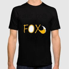 What Does The Fox Say  Mens Fitted Tee SMALL Black