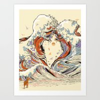 The Wave Of Love Art Print