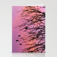 Tree Birds. Stationery Cards