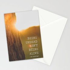 ee cummings - sunset. Stationery Cards