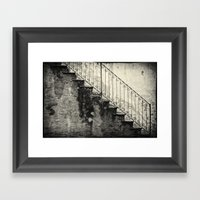 Stairs On A Rainy Day Framed Art Print