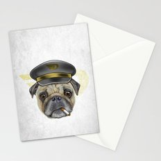 Pug Commander  Stationery Cards