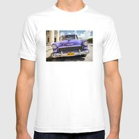 Purple Chevy Mens Fitted Tee White SMALL
