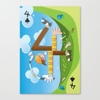 Fore of Clubs Canvas Print