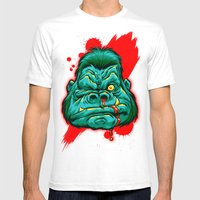 GRRRILLA Mens Fitted Tee White SMALL
