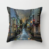 Wet Morning In Kemp Town Throw Pillow