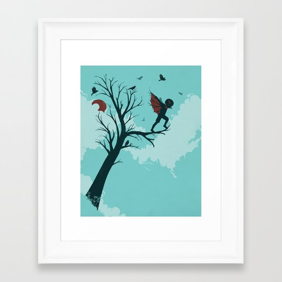 Moments Before Takeoff Framed Art Print