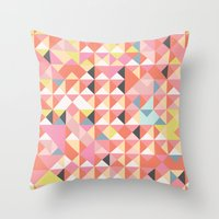 Geo Coral Throw Pillow