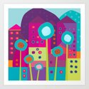 Colorful Town Art Print