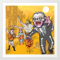 Trick Or Tremble Art Print