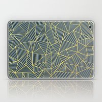 Ab Lines Gold and Navy Laptop & iPad Skin