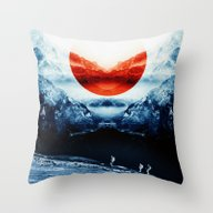 Mission Blue Throw Pillow