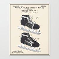 Hockey Skate Patent Canvas Print