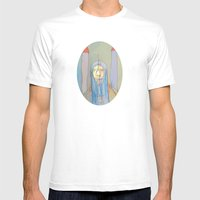 Daniel Rocket Moon Mens Fitted Tee White SMALL