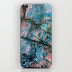 Pink and Blue Marble iPhone & iPod Skin