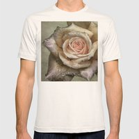 Vintage Rose With Water … Mens Fitted Tee Natural SMALL