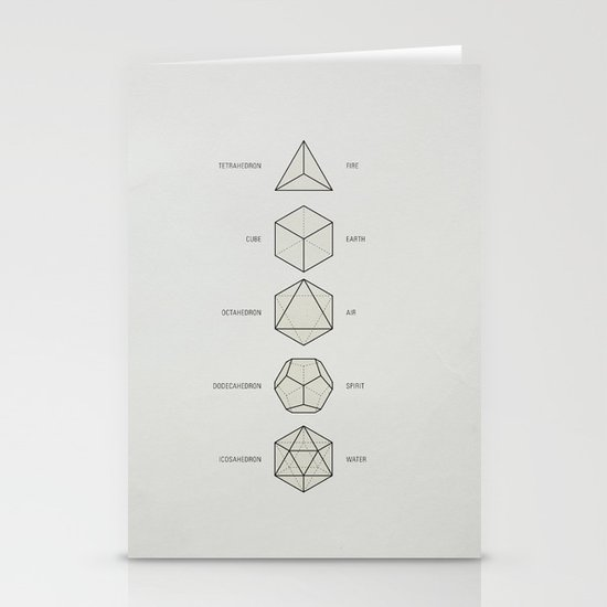 The Platonic Solids Stationery Card
