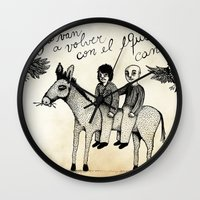 And you will return with your horse tired Wall Clock