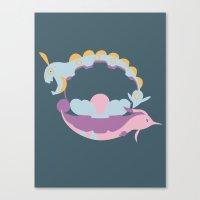 Pocket Monster 366, 367 … Canvas Print