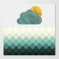 Sea Polygons Canvas Print