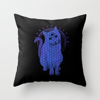 Trippy Cat: 4 Throw Pillow