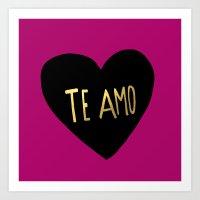 Te Amo II Art Print