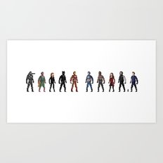CIVIL WAR Pixels Art Print