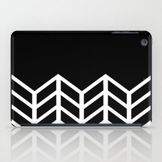 BLACK LACE CHEVRON iPad Case