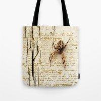 Spider Letter Tote Bag