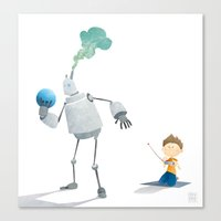 Steambot Bowling Canvas Print