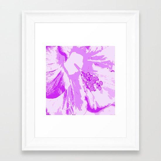 Intimate Purple Framed Art Print