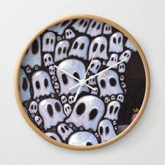100 ghosts Wall Clock