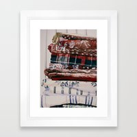 Linens Framed Art Print
