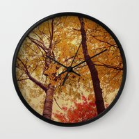 Autumn Couple Wall Clock