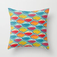 Abstract Shape Repeat Throw Pillow