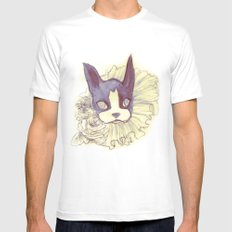Logan Sketch Mens Fitted Tee White SMALL