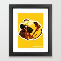 Aviator Angus Framed Art Print