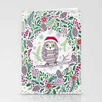 Owl Wreath Stationery Cards