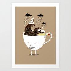 Brainstorming Coffee Art Print