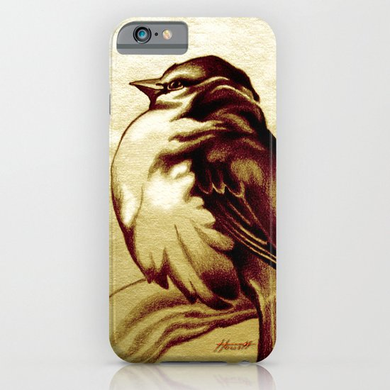 Sparrow in the Cold iPhone & iPod Case