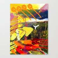 Wave Yellow Canvas Print