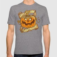 Halloween orange Mens Fitted Tee Tri-Grey SMALL