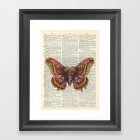 Vintage Butterfly On Dic… Framed Art Print