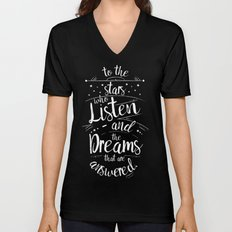 ACOMAF- To the Stars Who Listen And the Dreams that are Answered Unisex V-Neck