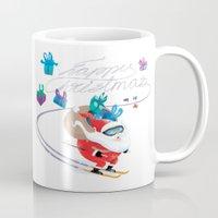 Santa Skiing 1 Mug