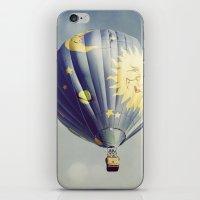 Moon And Stars Hot Air B… iPhone & iPod Skin