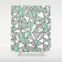 Abstraction Lines With M… Shower Curtain