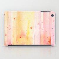 Pink Rain Watercolor Texture iPad Case