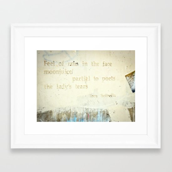 Writing on the Wall [1] Framed Art Print