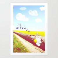Sunshine & Melody Art Print